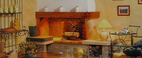 Chimeneas prefabricadas chimeneas rusticas insertables de - Revestimientos de chimeneas rusticas ...